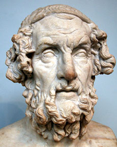 Homer, Marble Bust