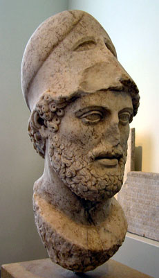 Bust of Pericles after Cresilas, Altes Museum, Berlin